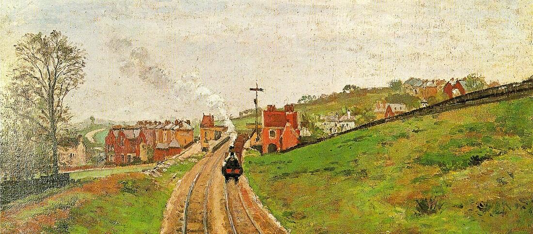Pissarro 11 /  1871-la gare de Dulwich