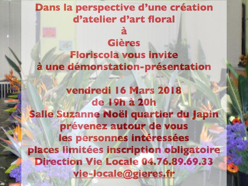 Démonstration / présentation du futur atelier de Gières