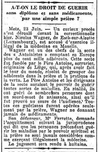 Nicolas Wagner (Le Petit Journal 24 juin 1927)