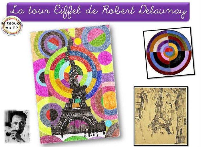 Arts visuels la tour eiffel chez maliluno - Coloriage delaunay ...