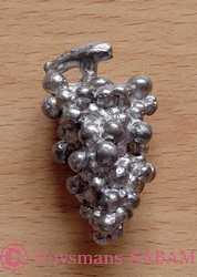 Objet décoratif en étain grappe de raisin - Arts et sculpture: sculpteur designer