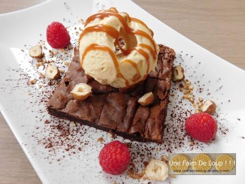 Assiette brownie tout caramel