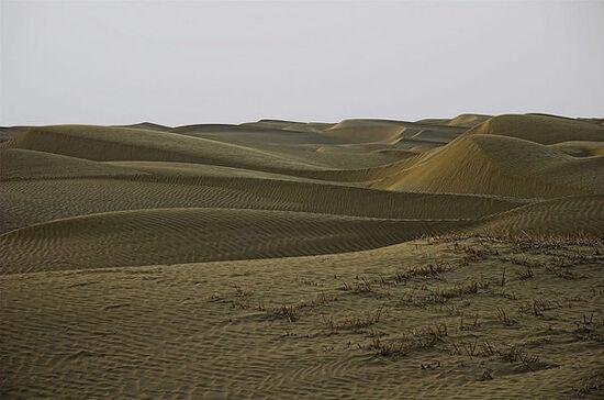 Le désert du Taklamakan en Asie