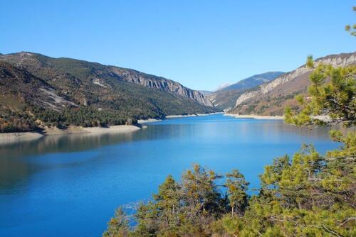 De belles eaux turquoises