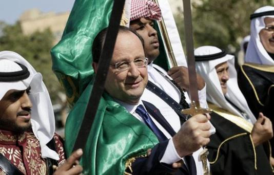 Francois Hollande le 30 décembre 2013 à Ryad en Arabie Saoudite.