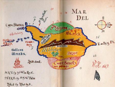 Voici l'une des cartes de Kidd qui n'avait pas été rendu public lors de sa découverte par Hubert Palmer dans les années 30. (Albert Fagioli)