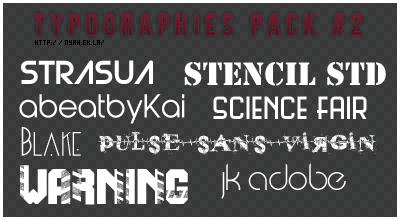 Typographies pack #2