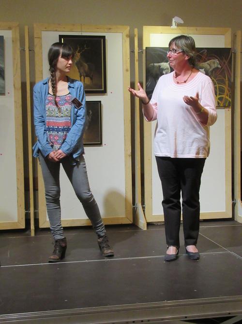 Marion Velten a été l'invitée d'honneur du salon des Peintres des Amis du Châtillonnais de 2018