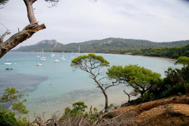 La plage de Notre-Dame, dans l'île de Porquerolles,... (Photo David Boily, La Presse)