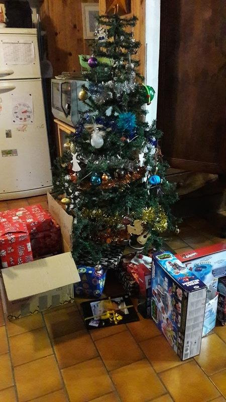 La joie d'avoir des cadeaux...
