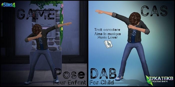 Pose DAB - Enfant