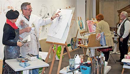 atelier art peinture saintes