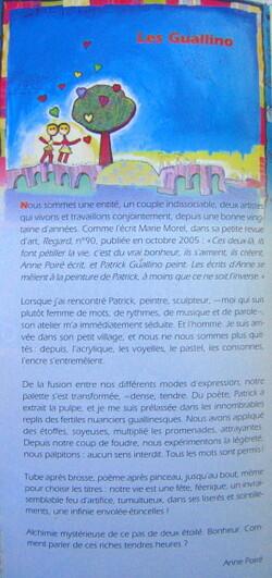 Dépliant Tours 2006 - Poiré Guallino