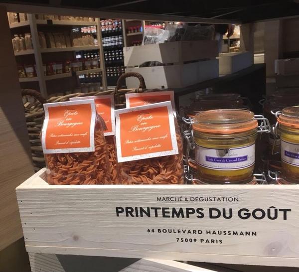 """""""Epates en Bourgogne"""" vendent leurs délicieuses pâtes au Printemps-Haussmann de Paris !"""