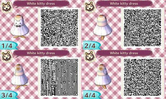 Motif #1459 robe chat blanc: