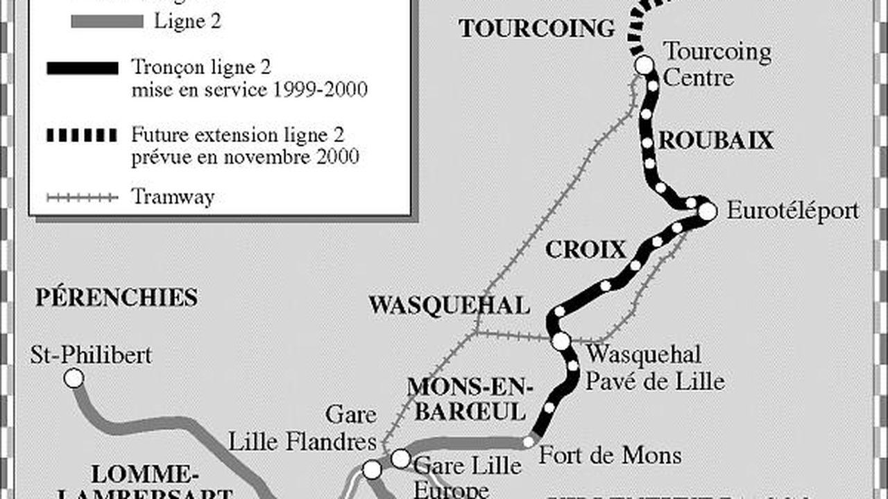 La métropole lilloise met en service une extension de son métro | Les Echos