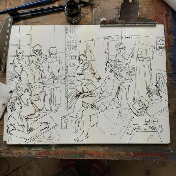 Dimanche - En cours : Scène d'atelier (suite)