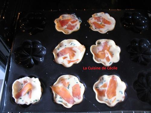 Tartelettes à la Truite Fumée