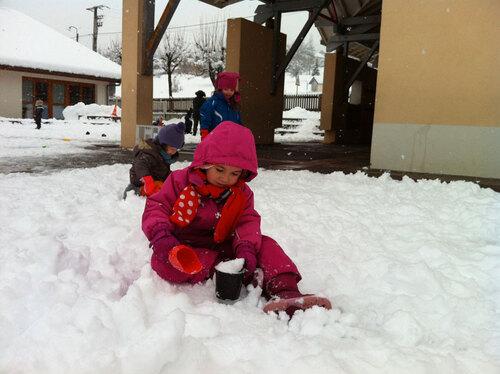 Récréation sous la neige...2