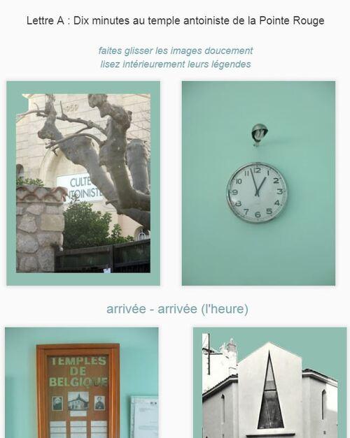 Lettre - dix minutes au temple antoiniste (Marseille)