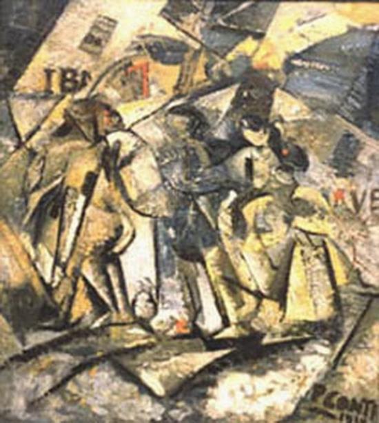 Primo Conti, Premiers comptes, Les réfugiés, 1918