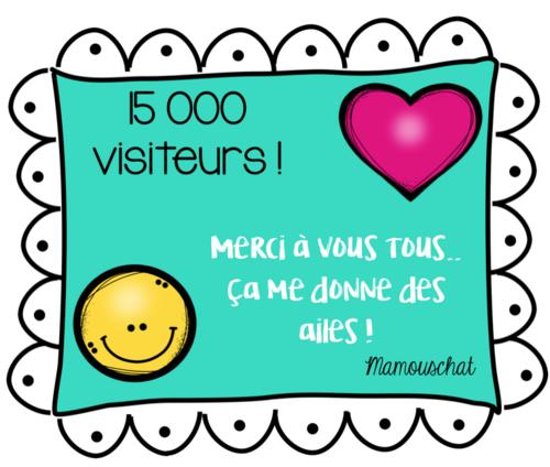 On a dépassé les 15 000 visiteurs!
