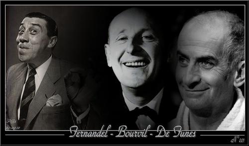 Créa : Louis de Funès , Bourvil , Fernandel