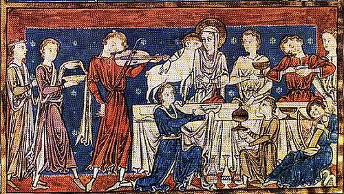 Le grand Almanach de la France : La cuisine médiévale