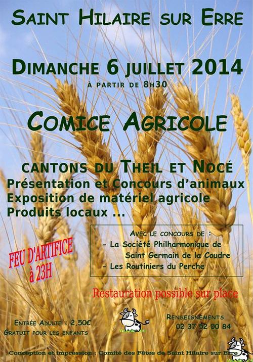 Dimanche 6 juillet, Comice agricole à Saint-Hilaire-sur-Erre
