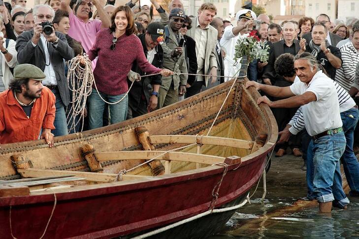 Mise à l'eau du bateau Gyptis en octobre 2013