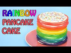 Recette n°2 rainbow pancakes cake
