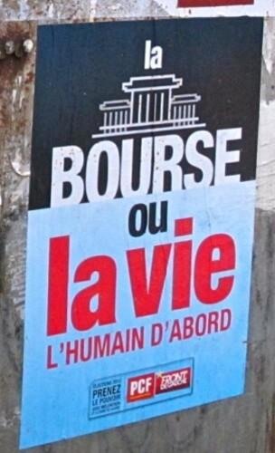 affiche politique bourse ou la vie 3