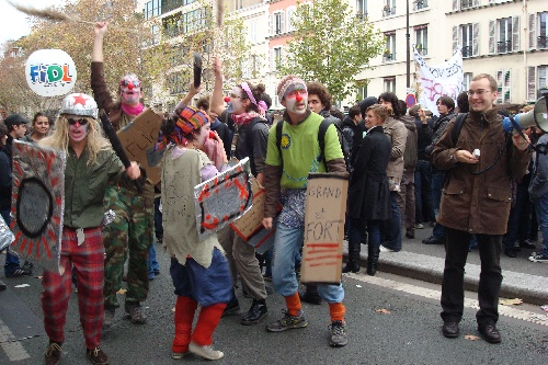 manif 24 nov - clowns