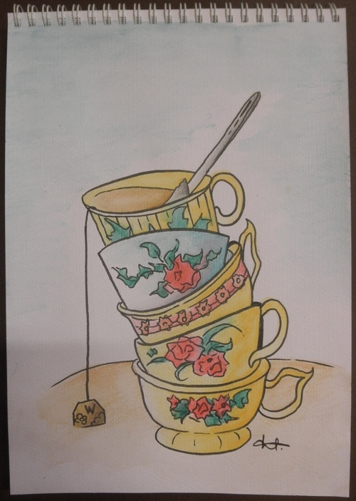 • Tasses à l'aquarelle