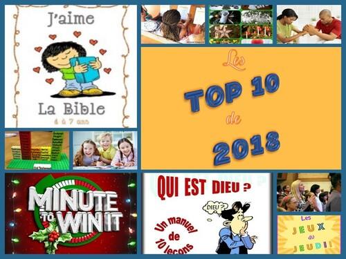 Les Top 10 de 2018
