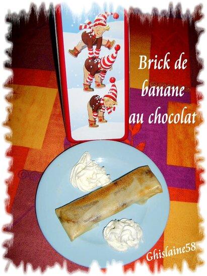 Brick de banane au chocolat