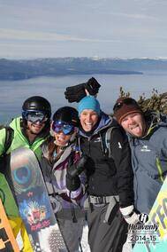 Journée de ski avec Josh et Tram