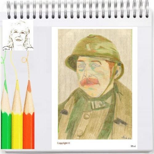 Un de mes dessins aux crayons de couleurs – Un roi de Belgique