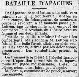 Les Apaches à la Goutte d'Or