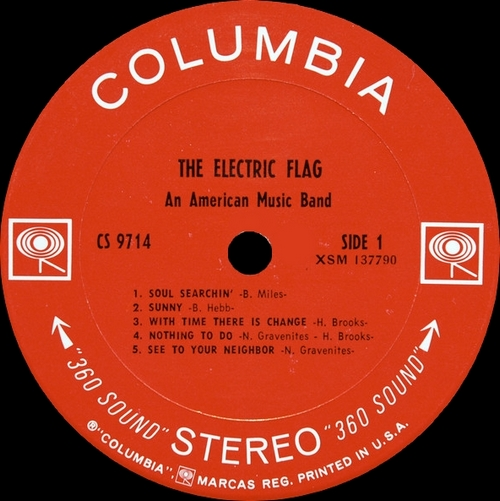 """The Electric Flag : Album """" An American Music Band """" Columbia Records CS 9714 [ US ]"""