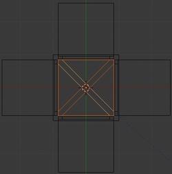Dupliquer et faire pivote la sélection de 90 degrés sur l'axe Y
