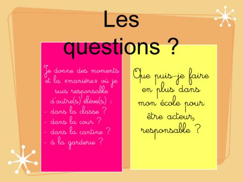 RESPONSABILITE EN PARTAGE: CONSEIL D'ELEVES