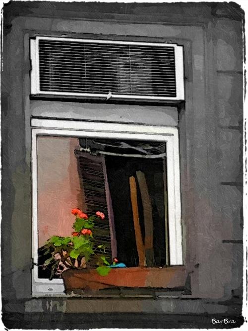Riflesso sulla finestra