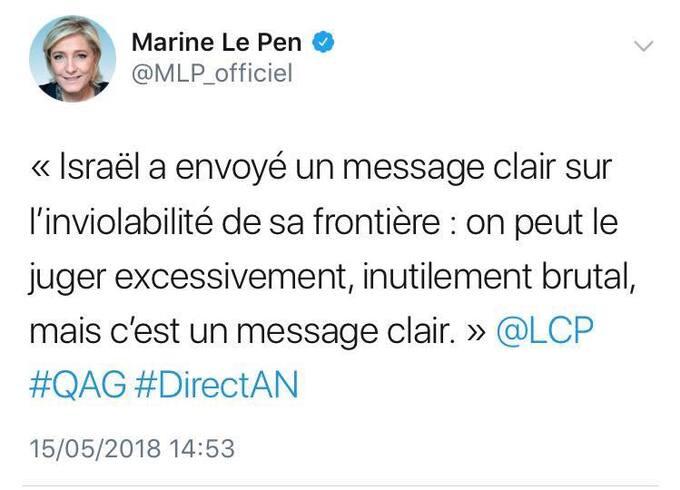 "Le FN, ""antisioniste""... MDR"