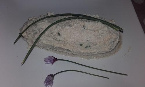 Faux mage de cajou fermenté ail et ciboulette