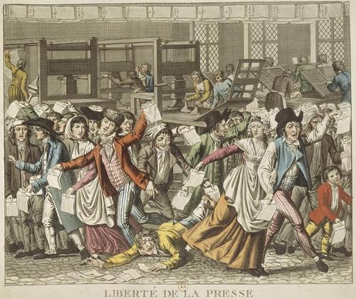 La presse lors de la Révolution de 1789