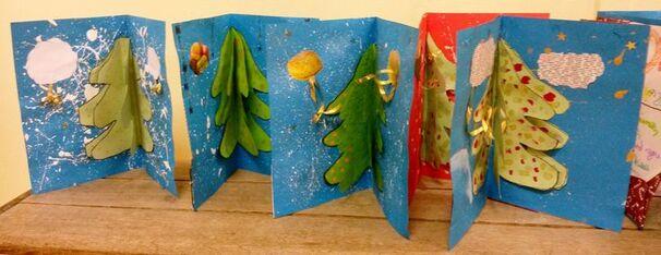 Productions élèves CM2 - carte de vœux Noël intérieur (1):