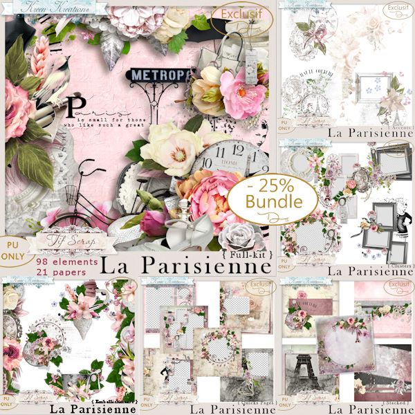 La Parisienne { Bundle } by TifScrap & Kreen Kreations