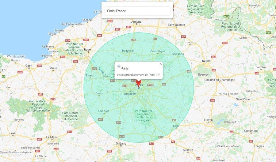 déconfinement - distance à la ronde - 100 kilomètres