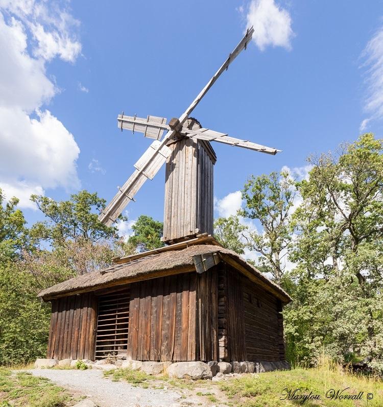 Suède : Ecomusée Skansen le moulin à vent